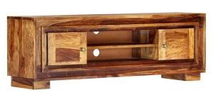 szafka stolik RTV stojąca, drewno lite palisander, powierzchnia szlifowana i lakierowana