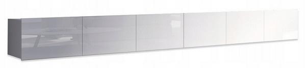 szafka stolik RTV stojąca lub wisząca, z płyty laminowanej, długość 300 cm